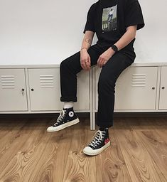 Men S Fashion Depot Product Retro Outfits, Grunge Outfits, Cool Outfits, Fashion Outfits, Fashion Trends, Converse Sneaker, Sneaker Outfits, Mode Streetwear, Streetwear Fashion
