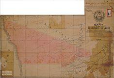 Mapa do território do Acre, 1904. Arquivo Nacional. Fundo Ministério da Fazenda. BR_RJANRIO_4O_0_MAP_0001_0001 Acre, Vintage World Maps, National Archives, Cartography, Maps, Mornings