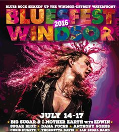2016 Festival Posters, Concert Posters, Movie Posters, I Mother Earth, Blues Rock, Windsor, Over The Years, Film Poster, Popcorn Posters
