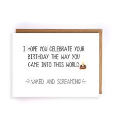 funny birthday gift for mom, handmade greeting card for dad, happy birthday husband, birthday gift boyfriend, best friend birthday Sarcastic Birthday Meme, Happy Birthday Meme, Funny Birthday Gifts, Mom Birthday Gift, Handmade Birthday Cards, Birthday Quotes, It's Your Birthday, Humor Birthday, Birthday Greetings