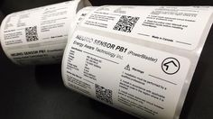 Here we have rolls of white, matte finish PowerBlaster labels completed for @EnergyAwareTech.
