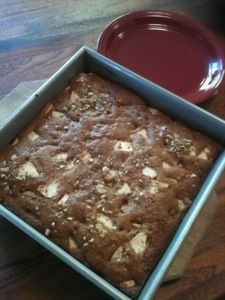 Apple Walnut Cottage Cake - sounds and looks too good to be true!  so healthy!  sprouted wheat flour and coconut oil