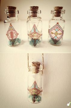 mini stopper bottle crafts