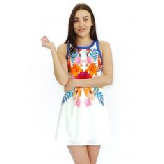 Summer dress with floral print