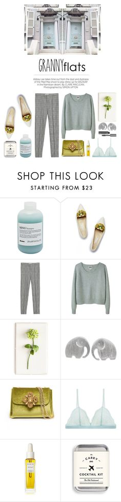 """""""Granny flats"""" by kelly-m-o ❤ liked on Polyvore featuring Davines, Matthew Williamson, Kershaw, MANGO, Acne Studios, Tommy Mitchell, NOVICA, Bebe, Cosabella and Rodin"""