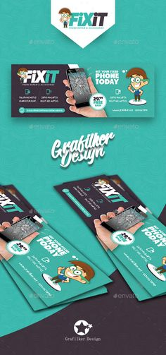 Buy Phone Repair Cover Templates by grafilker on GraphicRiver. Phone Repair Cover Templates Fully layered INDD Fully layered PSD 300 Dpi, CMYK IDML format open Indesign or late. Banners, Web Banner, Facebook Cover Design, Facebook Timeline Covers, Mobile Workshop, Creative Poster Design, Ad Design, Menu Design, Graphic Design