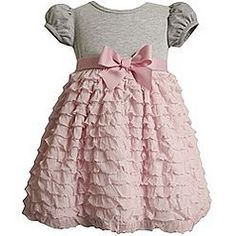 grey and pink little girl's dress. DIY little girls t shirt and attach material of choice