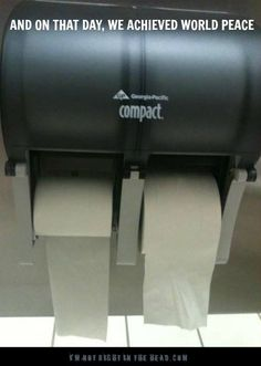 Toilet paper over the top or from the back.  Now everyone can be happy.  (Even though half of them are wrong!)