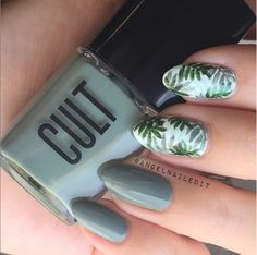 palm leaf nail art - Buscar con Google