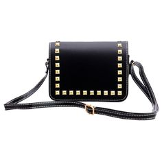 Fashion PU Leather Women Messenger Bags Ladies Vintage Rivet Crossbody Shoulder Bags Female Small Clutch Handbags Bolsa Feminina #clothing,#shoes,#jewelry,#women,#men,#hats,#watches,#belts,#fashion,#style