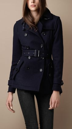 navy burberry coat...it's too bad I can't afford it. of course, I live in florida so I don't need it, lol
