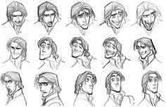 gestos faciales para la creación del príncipe de la película enredados