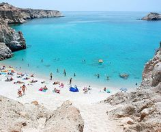 I've heard Greece has the best beaches in Europe...Tsigkrado Beach, Greece