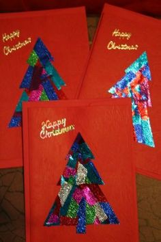 3 Foiled Christmas Cards by Valmade for $3.00