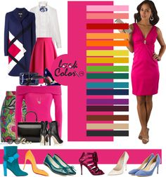 60 Ideas For Dress Pink Fucsia Colour Combinations Fashion, Color Combinations For Clothes, Fashion Colours, Colorful Fashion, Color Combos, Look Rose, Modelos Fashion, Winter Dress Outfits, Color Pairing
