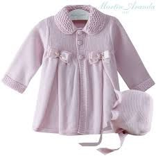 diy_crafts- Paz Rodriguez Baby Girls Pink Pram Coat and Bonnet Knitting For Kids, Baby Knitting, Baby Coat, Kids Coats, News Design, Pink Girl, Baby Kids, Sewing Patterns, Sweaters