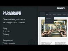 Paragraph - Premium WordPress Theme + Free Download