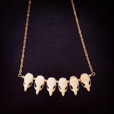 Mouse skull statement necklace. #jewelry #taxidermy #detroittaxidermy