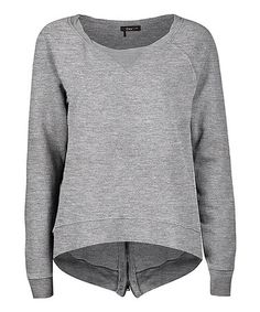 Loving this Gray Heather Fleece Zip Sweatshirt - Women on #zulily! #zulilyfinds