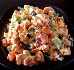 Healthy and Gourmet: Sweet Potato Salad  I wanna try this!!!
