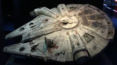"A model of the Millenium Falcon starship is displayed during press day for the exhibit ""Star Wars Identities"" at the ""Cite du Cinema"" movie studios in Saint-Denis, near Paris, February 13, 2014. REUTERS/Benoit Tessier"