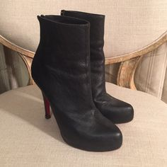 Louboutin Ankle Boot These were literally worn once and in nearly perfect shape ❤️ Christian Louboutin Shoes