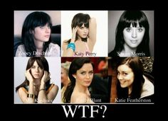 so much alike, except for featherson, unless it's simply a bad picture of her.