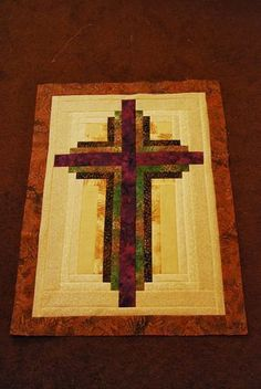 Sweet Seasons of Life: LOG CABIN CROSS with instructions