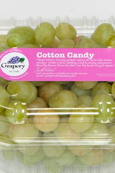 Now There Are Miraculous Cotton Candy Grapes From The Heavens!  My new food obsession...these are amazing!