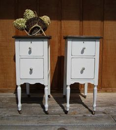Simply Country Life: Ugly Vanity Makeover Turned into Gorgeous Night Stands