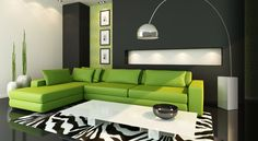 This is the color scheme in my living room :) except the furniture is grey with lime pillows.