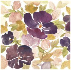 Aubergine Blossom I Posters por Edith Lentz na AllPosters.com.br