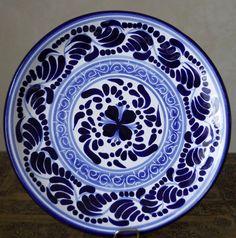 HERNANDEZ PUEBLA TALAVERA Pottery Round Plate by SEuropeanVintage, $39.00