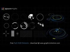 ▶ FREE High Tech HUD Elements Model Kit - After Effects Project - YouTube