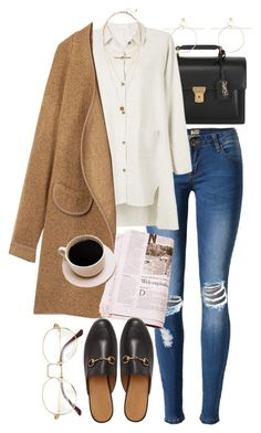 """""""New chic 5"""" by nikka-phillips ❤ liked on Polyvore featuring Yves Saint Laurent, H&M and Gucci"""