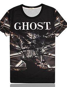 Men's+Print+Round+Short+Sleeve+T-Shirts+(Cotton)+–+EUR+€+9.99