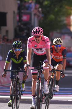 100th Tour of Italy 2017 / Stage 18 Arrival / Tom DUMOULIN Pink Leader Jersey / Nairo QUINTANA / Vincenzo NIBALI / Moena Ortisei/St Ulrich 1219m /...