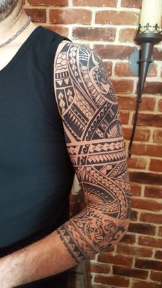 Samoan Half Sleeve Tattoo Unique Pin by Earl Pagal On Filipino island Tribal Tattoos Mayan Tattoos, Tribal Arm Tattoos, Elbow Tattoos, Filipino Tattoos, Sleeve Tattoos, Tattoo Sleeves, Polynesian Tattoos, Badass Tattoos, Body Art Tattoos