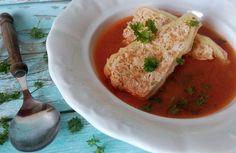 Diétás töltött paprika Hummus, Grains, Paleo, Rice, Meat, Chicken, Healthy, Ethnic Recipes, Food