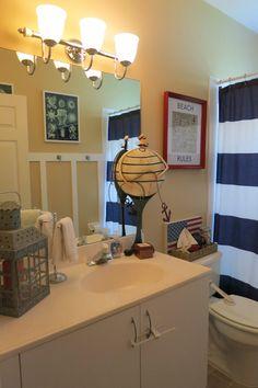 Promo Code In Blog Nautical Bathroom Boys Bathroom Navy White - Bathrooms com discount code