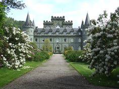 Inverary Castle-location of Downton Abbey Scottish Highlands visit.