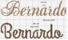 Cross Stitch Embroidery, Math, Cross Stitch Love, Cross Stitch For Baby, Cross Stitch Alphabet Patterns, Types Of Embroidery, Letter Designs, Names, Manualidades