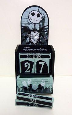 The Nightmare Before Christmas Jack Skellington Wooden Calendar