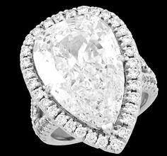 7.00ct Pear Shape Diamond Amazing  http://www.ozcaninc.com  http://www.facebook.com/OzcanInc