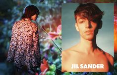 Top model Edie Campbell teams up with fashion photographer David Sims for Jil Sander 's Spring Summer 2014 advertisement. Ben Waters is star of Jil Sander's menswear campaign.