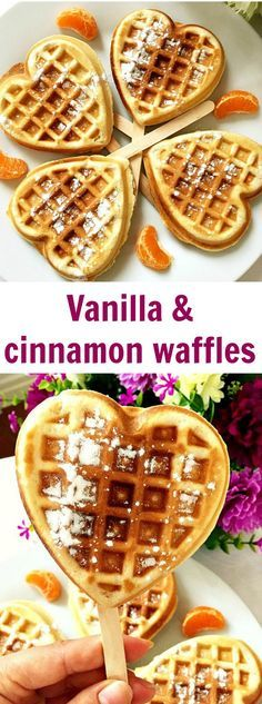 Vanilla & cinnamon waffles make a perfect recipe for an indulgent breakfast or brunch. So easy to make and so delicious.