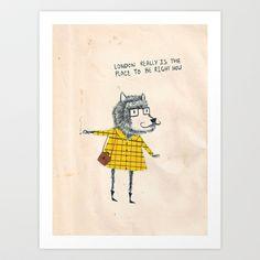Things+my+friends+say+Art+Print+by+Matt+Saunders+-+$20.80