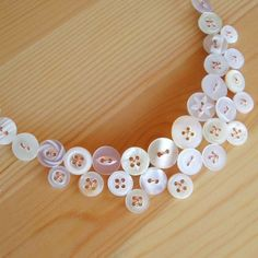 Button Necklace - DIY Idea