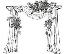 Taming the Wedding Planning Beast workshop and wedding day coloring pages. Wedding Ceremony Decorations, Outdoor Wedding Venues, Chinese Wedding Decor, Wedding Coloring Pages, Cartoon Body, Large Bridal Parties, Wedding Drawing, Decoration Evenementielle, Crazy Wedding