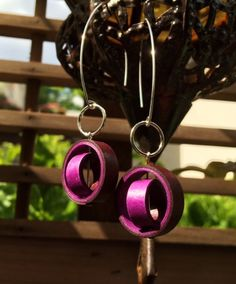 Paper Earrings / Paper Anniversary Gift for Her by RogueTheoryPULP